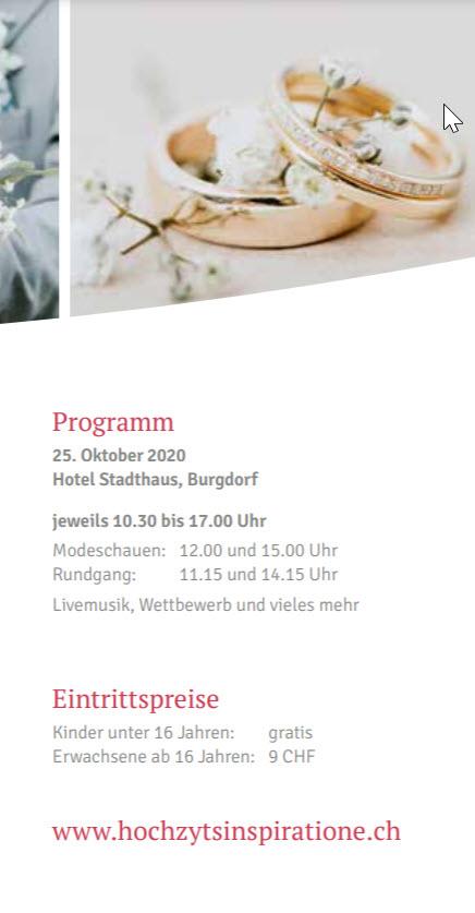 Besuch mich an der Hochzeitsmesse in Burgdorf – 25. Oktober 2020